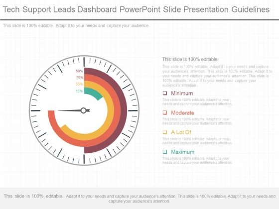 Tech Support Leads Dashboard Powerpoint Slide Presentation Guidelines