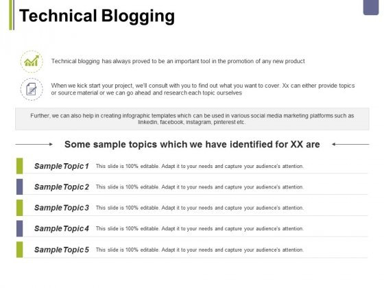 Technical Blogging Ppt PowerPoint Presentation Summary Grid