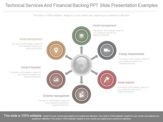 Technical Services And Financial Backing Ppt Slide Presentation Examples