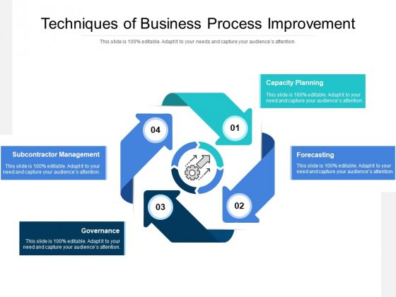 Techniques Of Business Process Improvement Ppt PowerPoint Presentation Professional Files PDF