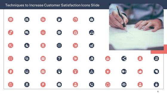 Techniques To Increase Customer Satisfaction Icons Slide Ppt Portfolio Show PDF
