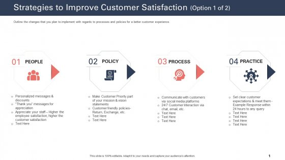Techniques To Increase Customer Satisfaction Strategies To Improve Customer Satisfaction Statements Professional PDF