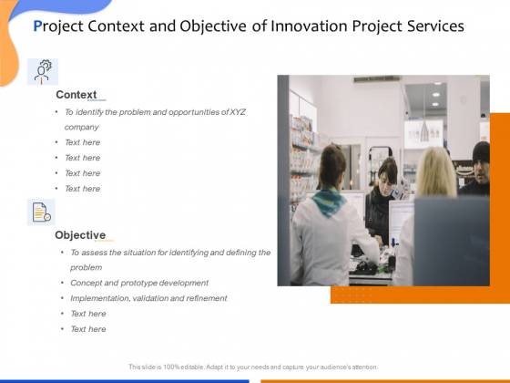 Technological Innovation Project Project Context And Objective Of Innovation Project Services Download PDF