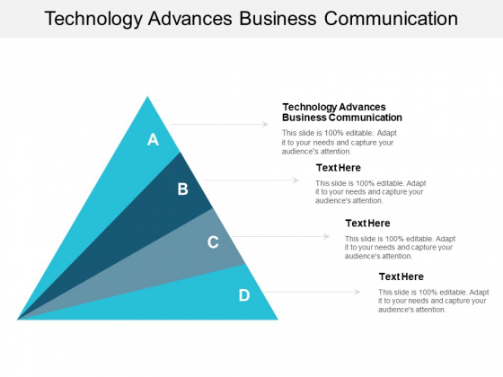 Technology Advances Business Communication Ppt PowerPoint Presentation Layouts Guidelines Cpb