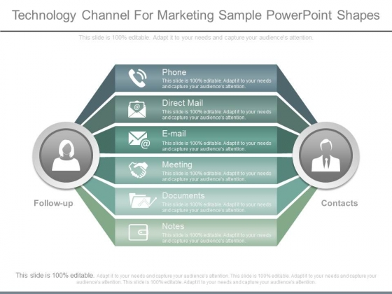 Technology Channel For Marketing Sample Powerpoint Shapes
