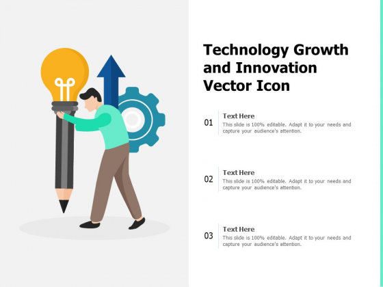 Technology Growth And Innovation Vector Icon Ppt PowerPoint Presentation File Formats PDF