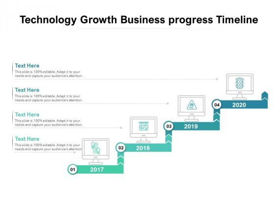 Technology Growth Business Progress Timeline Ppt PowerPoint Presentation Ideas Designs