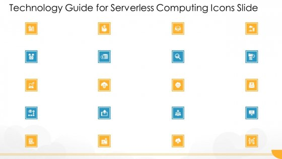 Technology Guide For Serverless Computing Icons Slide Diagrams PDF