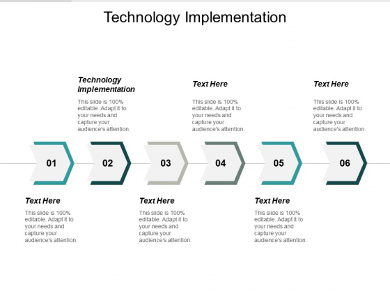 Technology Implementation Ppt PowerPoint Presentation Pictures Example Cpb