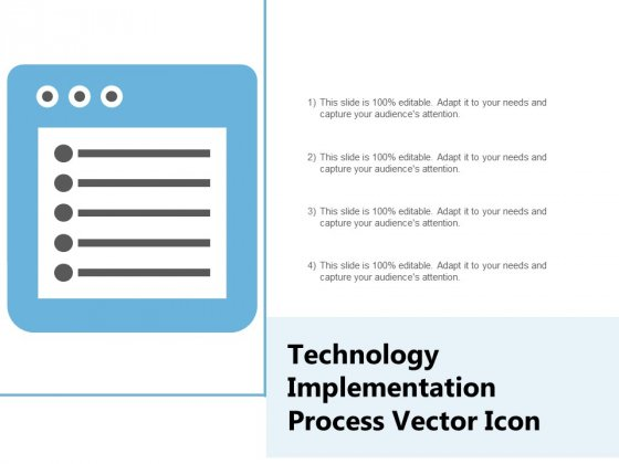 Technology Implementation Process Vector Icon Ppt PowerPoint Presentation Icon Example File