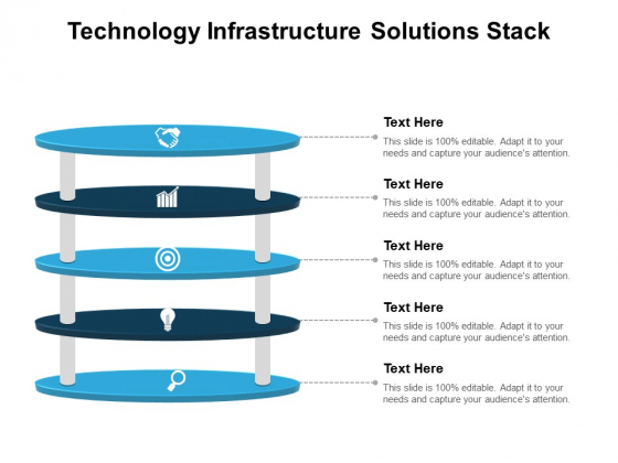 Technology Infrastructure Solutions Stack Ppt PowerPoint Presentation Portfolio Example Topics PDF