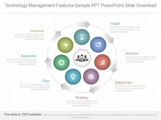 Technology Management Features Sample Ppt Powerpoint Slide Download