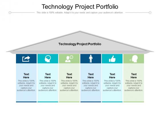Technology Project Portfolio Ppt PowerPoint Presentation Slides Clipart Cpb Pdf