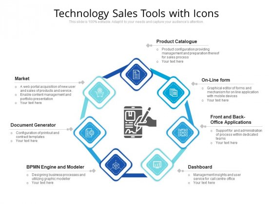 Technology Sales Tools With Icons Ppt PowerPoint Presentation File Background PDF