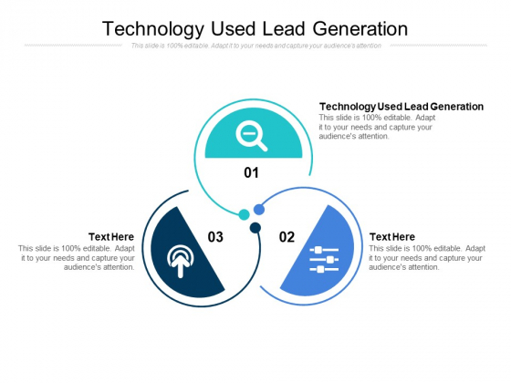 Technology Used Lead Generation Ppt PowerPoint Presentation Outline Sample Cpb