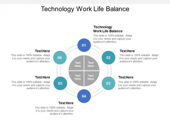 Technology Work Life Balance Ppt PowerPoint Presentation Summary Slides