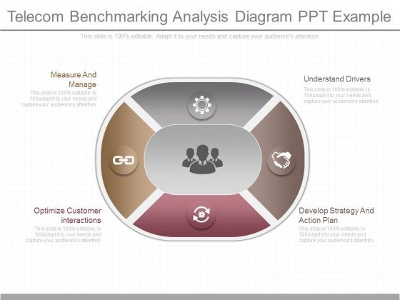 Telecom Benchmarking Analysis Diagram Ppt Example