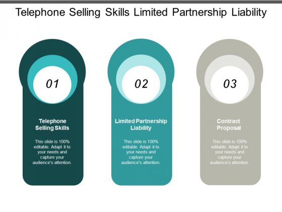 telephone selling skills limited partnership liability contract proposal ppt powerpoint presentation icon example