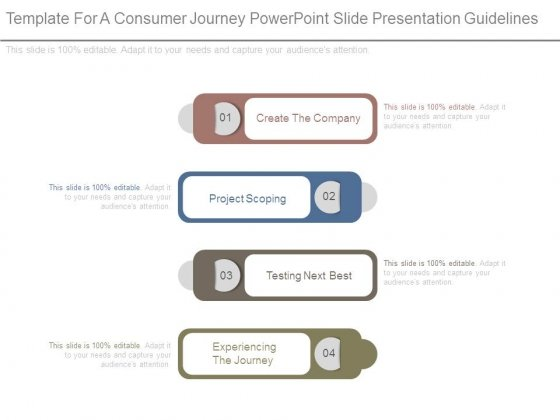 template for a consumer journey powerpoint slide presentation, Powerpoint templates
