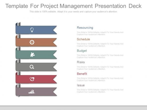 template for project management presentation deck - powerpoint, Powerpoint templates