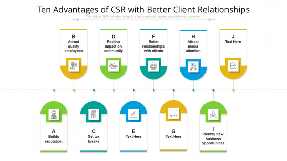 Ten Advantages Of CSR With Better Client Relationships Ppt PowerPoint Presentation File Background Image PDF