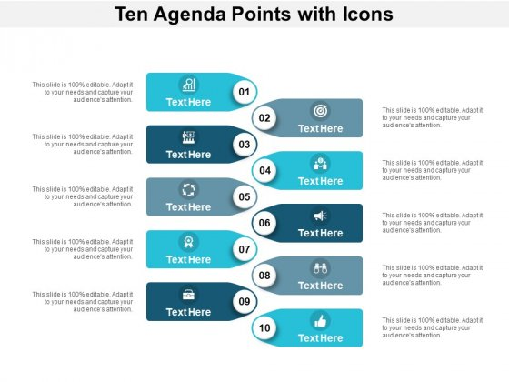 Ten Agenda Points With Icons Ppt PowerPoint Presentation Infographic Template Mockup