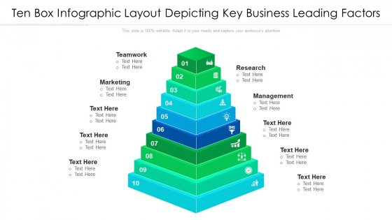 Ten Box Infographic Layout Depicting Key Business Leading Factors Ppt PowerPoint Presentation File Gallery PDF