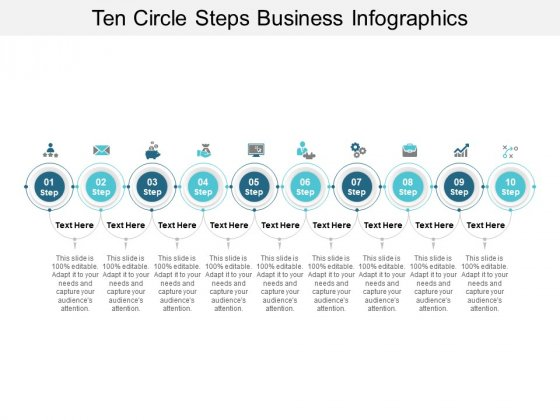 Ten Circle Steps Business Infographics Ppt PowerPoint Presentation Gallery Ideas