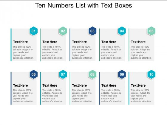 Ten Numbers List With Text Boxes Ppt PowerPoint Presentation Gallery Slideshow