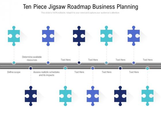 Ten_Piece_Jigsaw_Roadmap_Business_Planning_Ppt_PowerPoint_Presentation_Model_Example_Slide_1