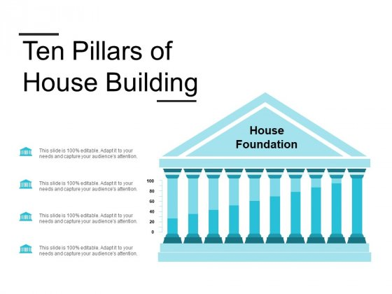 Ten Pillars Of House Building Ppt PowerPoint Presentation Inspiration Templates