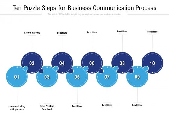 Ten_Puzzle_Steps_For_Business_Communication_Process_Ppt_PowerPoint_Presentation_Infographics_Outfit_Slide_1