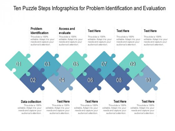 Ten_Puzzle_Steps_Infographics_For_Problem_Identification_And_Evaluation_Ppt_PowerPoint_Presentation_Pictures_Graphics_Slide_1