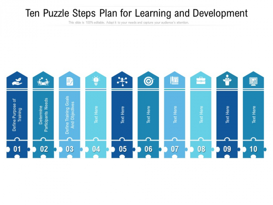 Ten_Puzzle_Steps_Plan_For_Learning_And_Development_Ppt_PowerPoint_Presentation_File_Example_Introduction_Slide_1