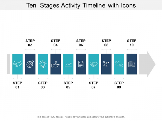 Ten Stages Activity Timeline With Icons Ppt PowerPoint Presentation Portfolio Graphics Template