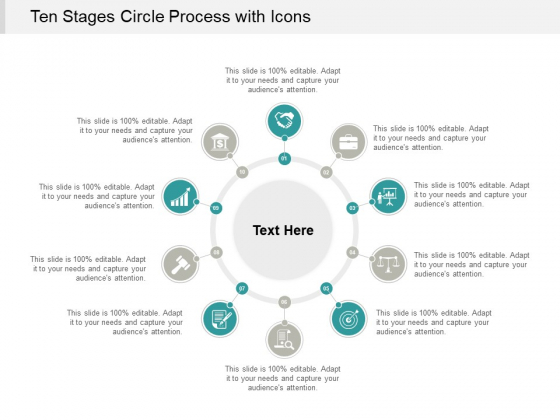 Ten Stages Circle Process With Icons Ppt PowerPoint Presentation Outline Show