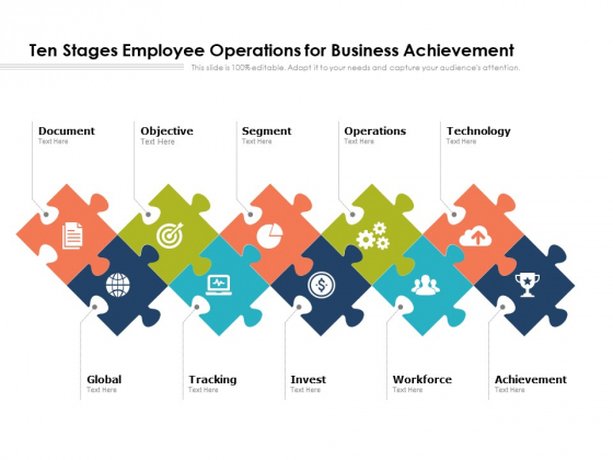 Ten Stages Employee Operations For Business Achievement Ppt PowerPoint Presentation Styles Background Designs PDF