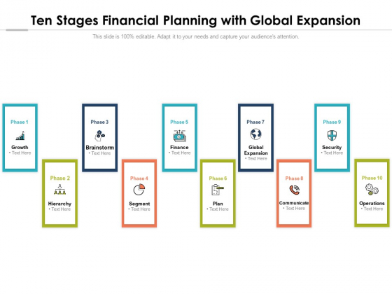 Ten Stages Financial Planning With Global Expansion Ppt PowerPoint Presentation Slides Styles PDF