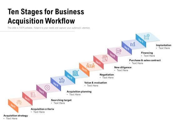 Ten_Stages_For_Business_Acquisition_Workflow_Ppt_PowerPoint_Presentation_File_Mockup_PDF_Slide_1