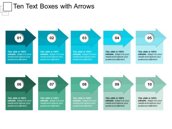 Ten Text Boxes With Arrows Ppt PowerPoint Presentation Professional Infographic Template