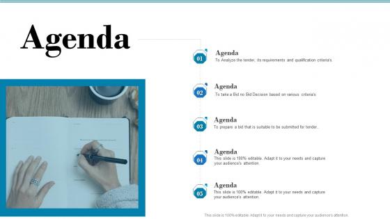 Tender Assessment Agenda Ppt Ideas Graphics PDF