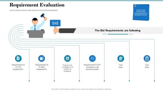 Tender Assessment Requirement Evaluation Ppt File Format Ideas PDF