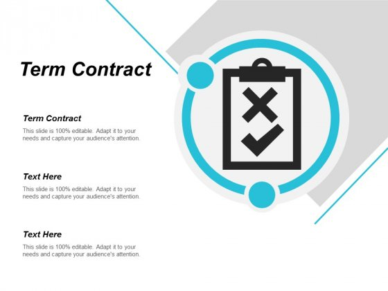 Term Contract Ppt Powerpoint Presentation Summary Deck Cpb