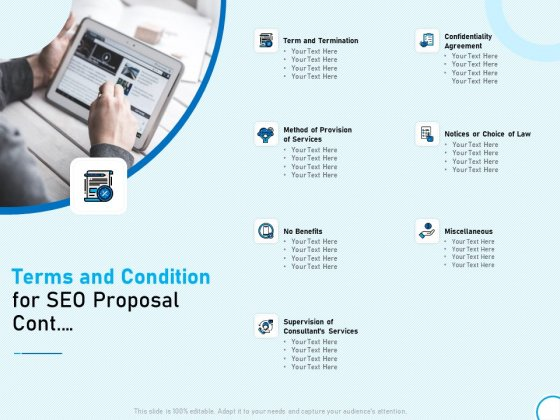 Terms And Condition For SEO Proposal Cont Ppt Infographics Outfit PDF