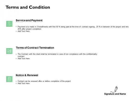 Terms And Condition Renewal Ppt PowerPoint Presentation Slides Examples