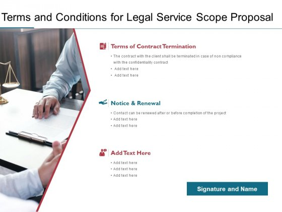 Terms And Conditions For Legal Service Scope Proposal Ppt PowerPoint Presentation Professional Example