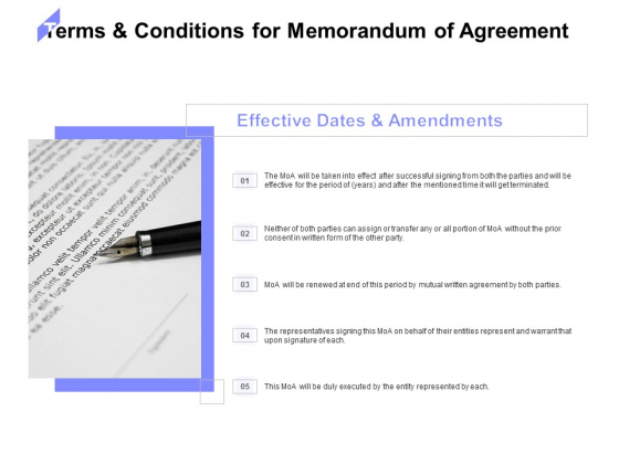Terms And Conditions For Memorandum Of Agreement Ppt PowerPoint Presentation Portfolio Infographic Template