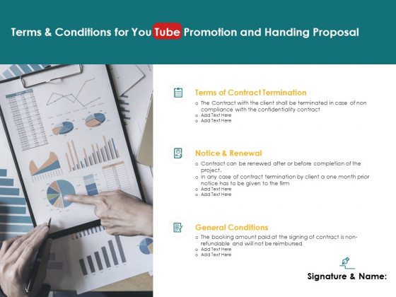 Terms And Conditions For You Tube Promotion And Handing Proposal Termination Ppt PowerPoint Presentation Infographics Display