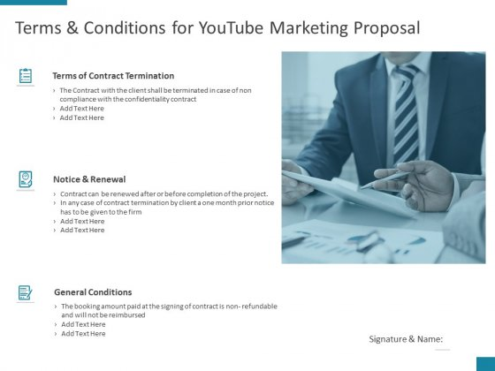 Terms And Conditions For Youtube Marketing Proposal Ppt PowerPoint Presentation Summary Example File