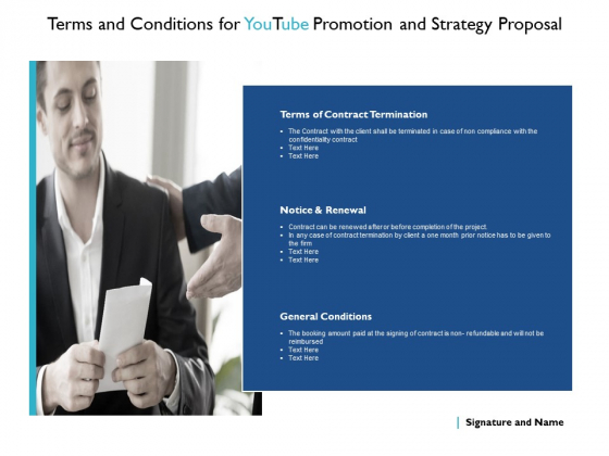 Terms And Conditions For Youtube Promotion And Strategy Proposal Contract Ppt PowerPoint Presentation Pictures Layouts